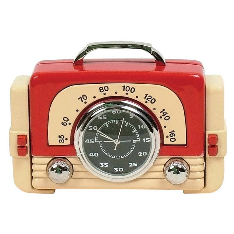 Retro Radio Desktop Clock